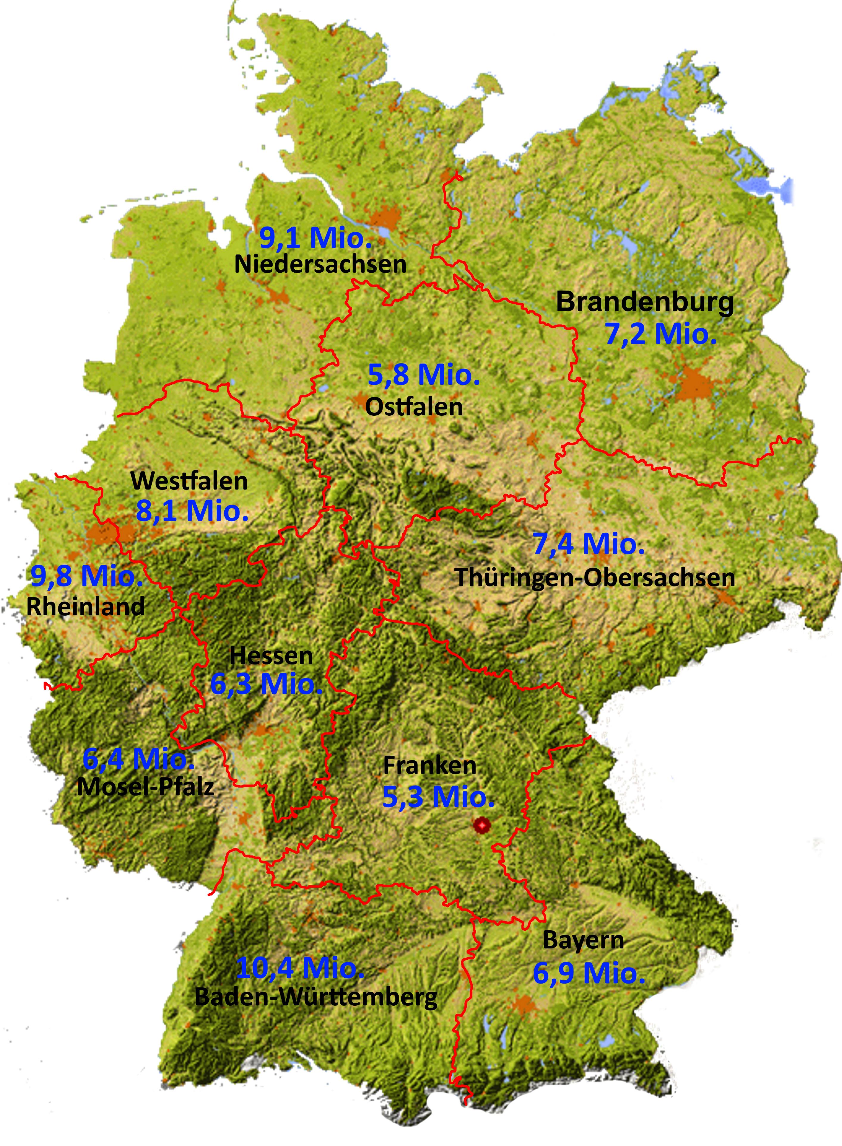 Neugliederung des Bundesgebiets - Home - Bundesrepublik Deutschland Bundesländer Karte